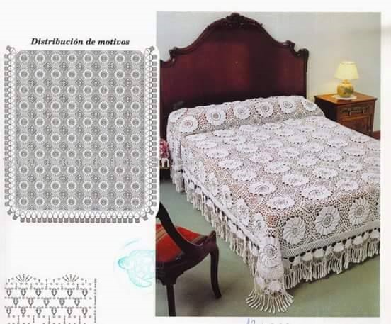 Crochet bedspread beautiful crochet patterns and - Colcha crochet patrones ...