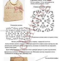 Вязаные крючком сумки и их схема