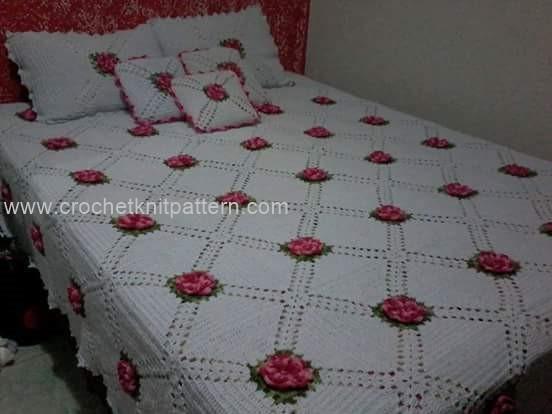Crochet Flower Bedspread