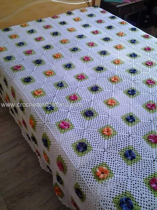 Beginner Crochet Bedspread Patterns Pakbit For
