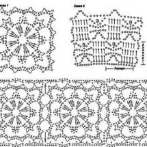 Схемы комбинированного вязания крючком 683