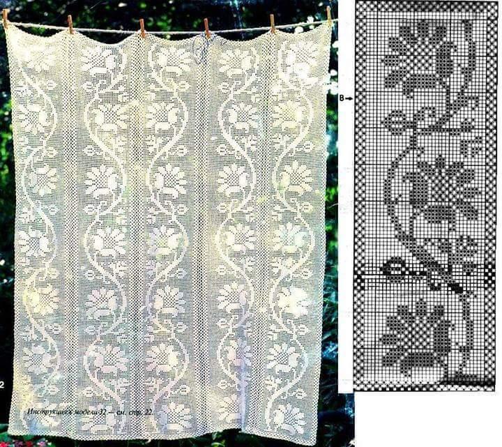 Crochet Curtain Patterns Part 6     Beautiful Crochet Patterns and ...