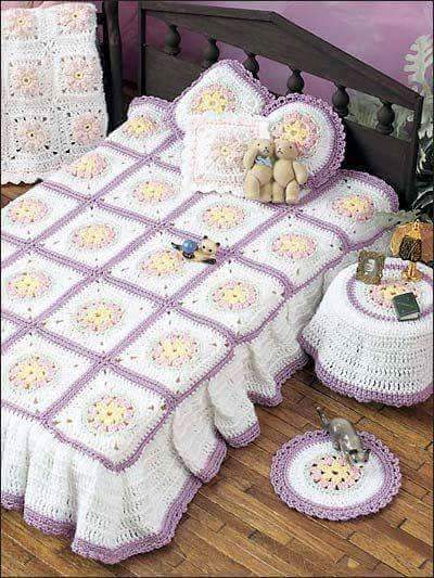 Crochet Bedspread Patterns Beautiful Crochet Patterns and Knitting Patterns
