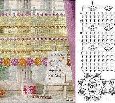 crochet curtain patterns part 10 beautiful crochet patterns and knitting patterns. Black Bedroom Furniture Sets. Home Design Ideas