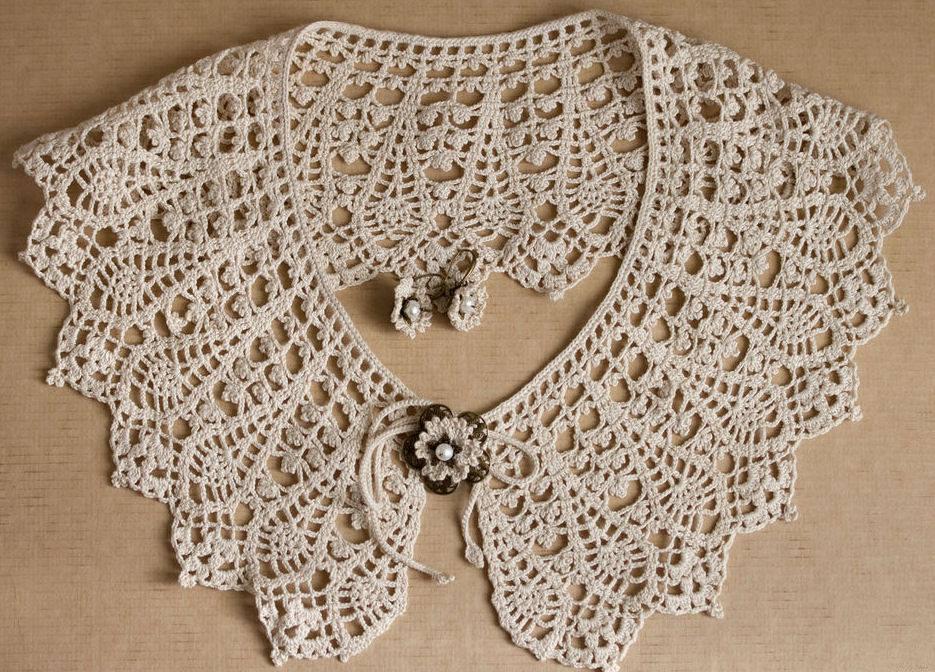 Increíble Alambre Patrón Collar Crochet Composición - Manta de Tejer ...
