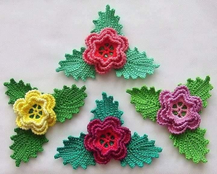 Crochet Flower Patterns Part 2 - Beautiful Crochet Patterns and ...